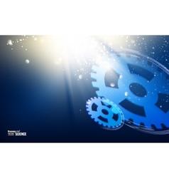 Gear-wheels over lights vector image vector image