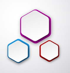 Paper white hexagonal notes vector image
