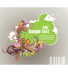 colored striped frame for text vector image vector image