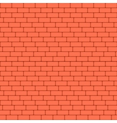 Red brick wall seamless background - texture vector image