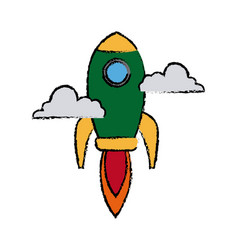 Rocket launching as a metaphor for start up vector