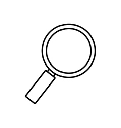 search technology tool optical outline vector image