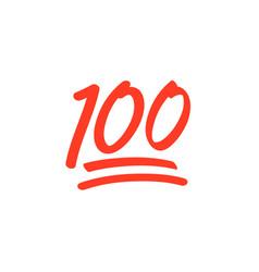 100 hundred emoticon icon emoji score vector