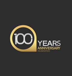 100 years anniversary celebration simple design vector