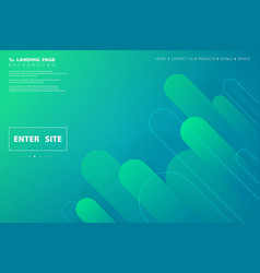 abstract colorful green blue web landing page vector image
