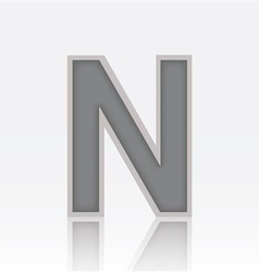 Alphabet N vector image