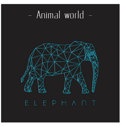 Animal world elephant polygon triangle elephant li vector