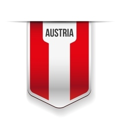 Austria flag ribbon vector image