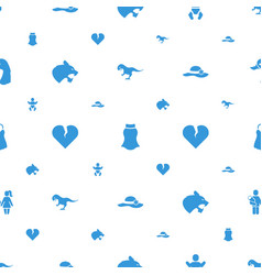 Beautiful icons pattern seamless white background vector