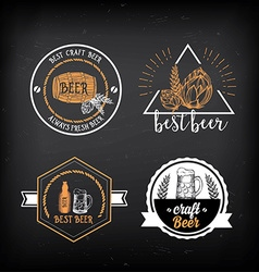 Beer restaurant cafe badges drink template design vector image