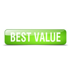 Best value green square 3d realistic isolated web vector