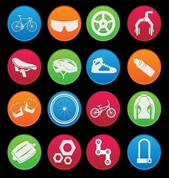 Bicycle icon set gradient style vector