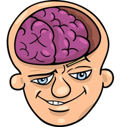 brainy man cartoon vector image