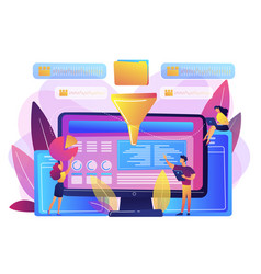 Business intelligence dashboard concept vector