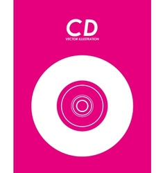 cd icon design vector image