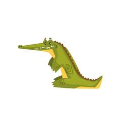 Crocodile predator cartoon character vector