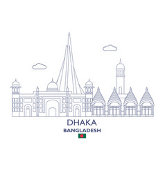 Dhaka city skyline vector