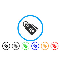 discount tags rounded icon vector image