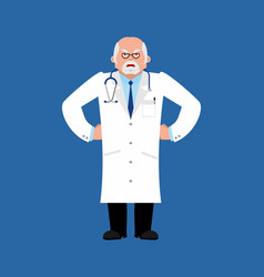 doctor angry physician evil emoji vector image