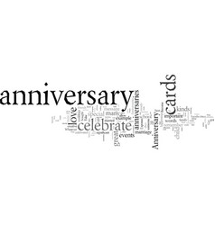 don t forget anniversary cards vector image