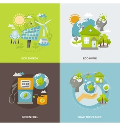 Eco Energy Flat vector image