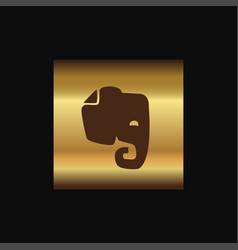 Evernote icon design vector