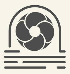 fan cooler solid icon blower vector image