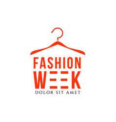 Fashion week template design vector