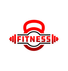 fitness badge sport logo vector image