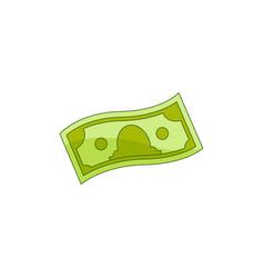 Flat cash money banknote vector