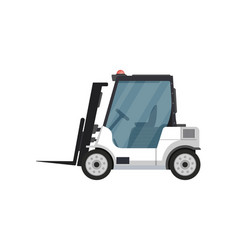 Fright forklift isolated icon vector