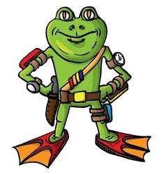Frog combat swimmer vector
