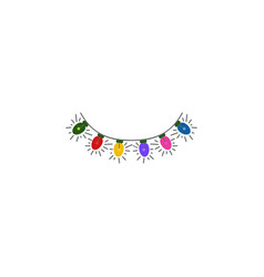 garland torse color icon element of christmas and vector image