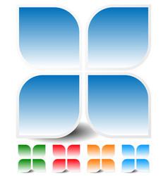 Generic icon design element in four colors vector