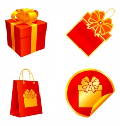 gift elements vector image