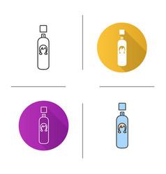 Hair spray icon vector