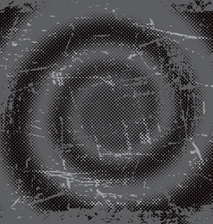 halftone grunge swirl background vector image