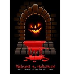 halloween terrible vector image