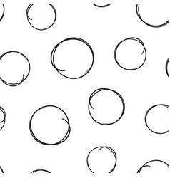 Hand drawn scribble circles line sketch icon vector