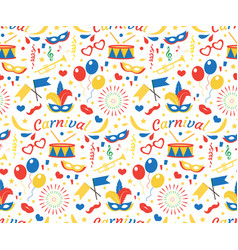 happy birthday or carnival seamless pattern with vector image