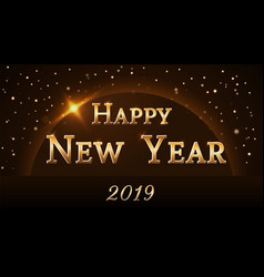 happy new year background magic gold rain vector image