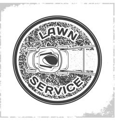 Lawn service logo monochrome vector