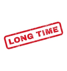 Long Time Text Rubber Stamp vector
