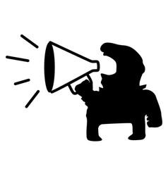 Loud speaker man symbol vector