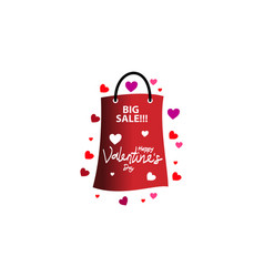 Love happy valentines day template sale vector