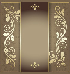 luxury background for menu and invitation card vector image