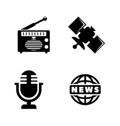 media news simple related icons vector image