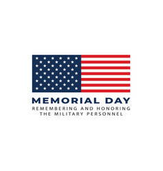 memorial day flag symbol remembering military vector image