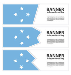 Micronesia flag banners collection independence vector