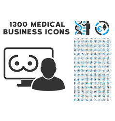 online erotics viewer user icon with 1300 medical vector image